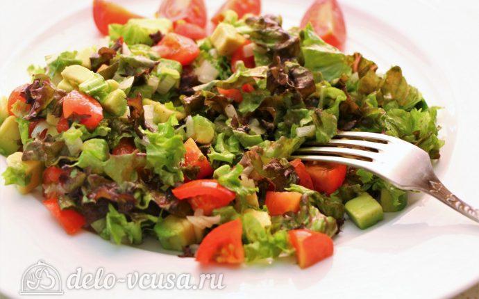 Салат с авокадо и помидорами: фото блюда приготовленного по данному рецепту