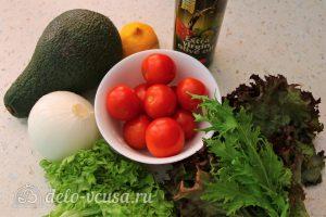 Салат с авокадо и помидорами: Ингредиенты