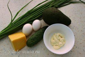 Салат с авокадо, яйцом и огурцом: Ингредиенты