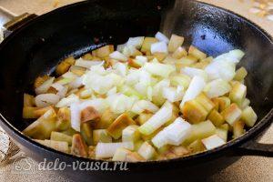 Соте из баклажанов на зиму: Обжарить овощи