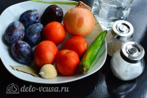 Соус из сливы к мясу на зиму: Ингредиенты