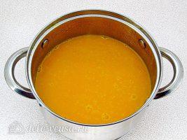Тыквенный суп-пюре с плавленным сыром и сухариками: Пюрировать суп