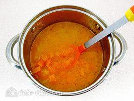 Тыквенный суп-пюре с плавленным сыром и сухариками: Сварить тыкву