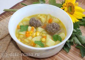 Суп с кукурузой и фрикадельками