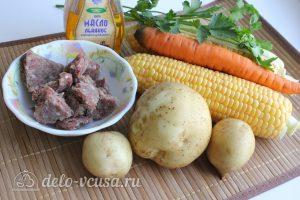 Суп с кукурузой и фрикадельками: Ингредиенты