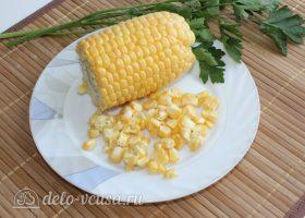 Суп с кукурузой и фрикадельками: Подготовить кукурузу