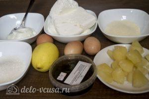 Творожная запеканка с ананасами: Ингредиенты