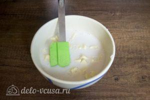Белый шоколадно-кокосовый торт: Приготовить ганаш