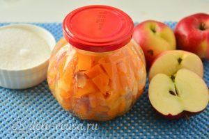 Варенье из тыквы с яблоками готово