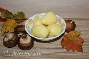 Картошка-гармошка с грибами: Почистить картофель