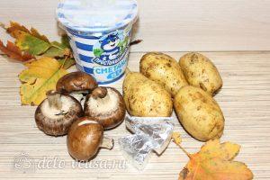 Картошка-гармошка с грибами: Ингредиенты