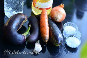 Острые баклажаны по-корейски на зиму: Ингредиенты