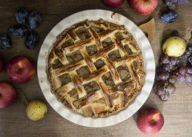 Дрожжевой яблочный пирог