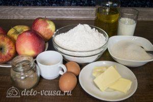 Дрожжевой яблочный пирог: Ингредиенты