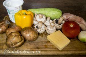 Курица с картофелем и овощами в горшочке: Ингредиенты