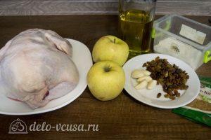 Курица, запеченная с яблоками в духовке: Ингредиенты
