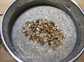 Рождественская кутья из пшеницы: Добавляем обжаренные орехи