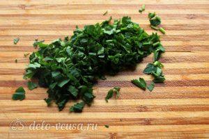Паста с тыквой: Измельчить зелень