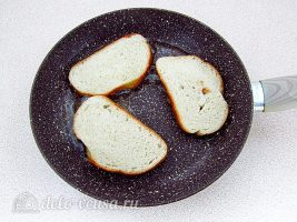 Горячие бутерброды с печенью: Обжарить бутерброды