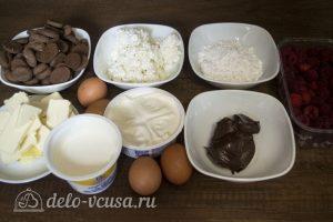 Шоколадный чизкейк с малиной: Ингредиенты