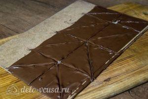 Шоколадный чизкейк с малиной: фото к шагу 13.