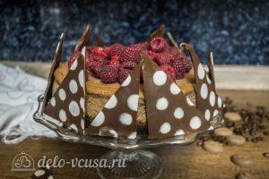 Шоколадный чизкейк с малиной: фото к шагу 15.
