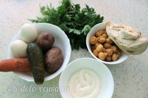 Салат Грибная поляна с шампиньонами: Ингредиенты