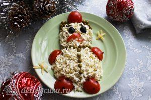 Салат Снеговик готов