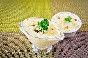 Домашний соус тартар для рыбы готов