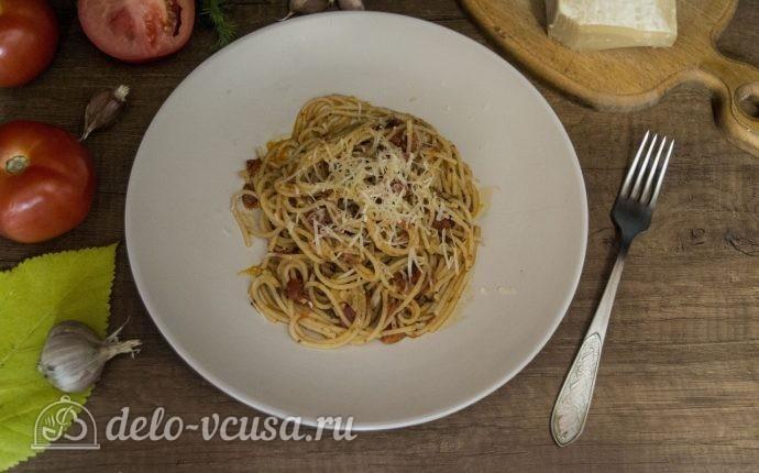 Спагетти с томатным соусом Маринара