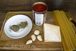Спагетти с томатным соусом Маринара: Ингредиенты