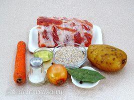 Ячменный суп со свиными ребрышками: Ингредиенты