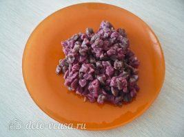 Татарские пирожки Вак балиш: Нарезать мясо