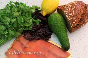 Бутерброды с авокадо и семгой: Ингредиенты