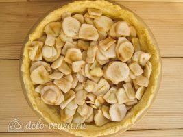 Яблочный пирог Марины Цветаевой: Распределить яблоки по форме