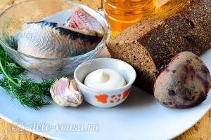 Бутерброды с селедкой и свеклой: Ингредиенты