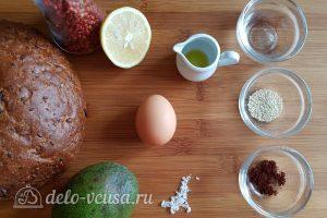 Бутерброды с авокадо и яйцом пашот: Ингредиенты