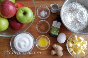 Имбирный пирог с яблоками: Ингредиенты