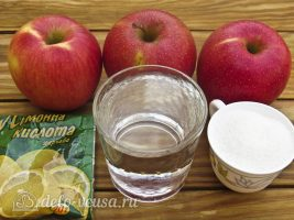 Яблочные чипсы в духовке: Ингредиенты