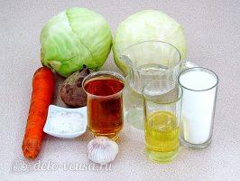 Маринованная капуста со свеклой и морковью: Ингредиенты