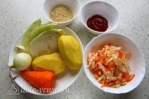 Капустняк с рисом: Ингредиенты