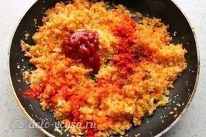 Капустняк с рисом: Готовим заправку