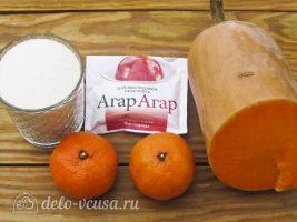Тыквенный конфитюр с мандаринами: Ингредиенты