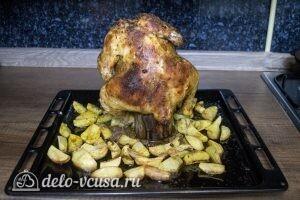 Курица на банке в духовке: фото к шагу 8.