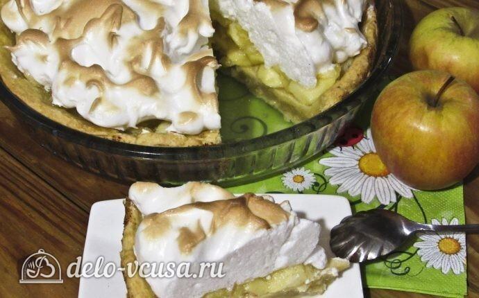 Пирог «Яблоки под снегом»