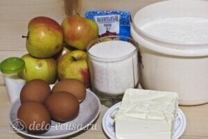 """Пирог """"Яблоки под снегом"""": Ингредиенты"""