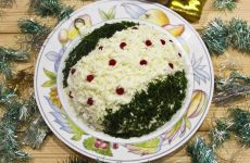 Новогодний салат Елочная игрушка