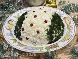 Новогодний салат Елочная игрушка готов