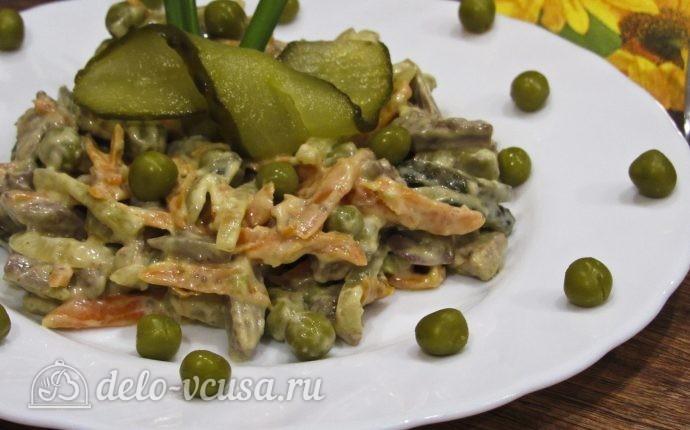 Салат Обжорка с печенью: фото блюда приготовленного по данному рецепту
