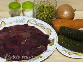 Салат Обжорка с печенью: Ингредиенты